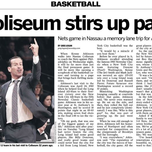 Coach of Brooklyn Nets Kenny Atkinson Talks About Playing For St. Anthony's